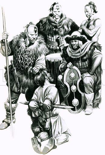 Attila the Hun torturing a captive.