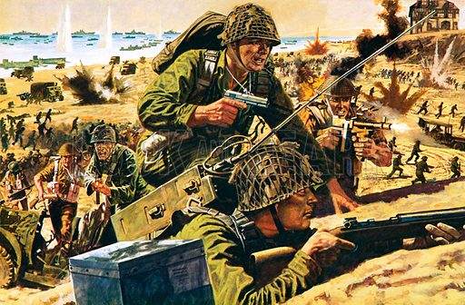 D-day, picture, image, illustration