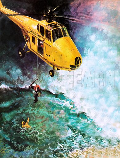 Sea rescue, picture, image, illustration