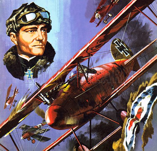 Red Baron, picture, image, illustration