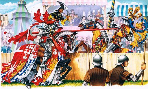 Medieval joust.