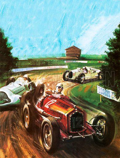 Tazio Nuvolari, picture, image, illustration