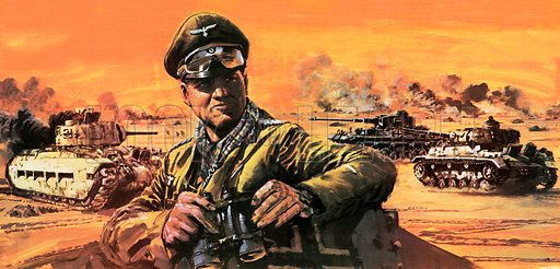 Erwin Rommel, German commander of the Afrika Korps, World War II, 1941–1943
