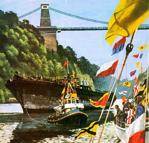 S.S. Great Britain, , picture, image, illustration