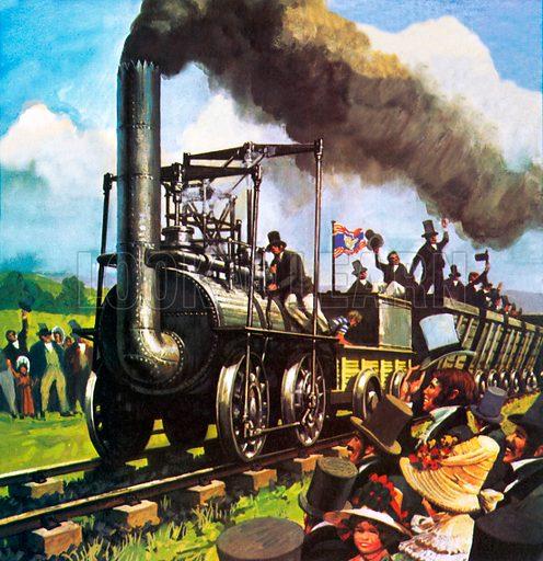 Stockton and Darlington railway, picture, image, illustration