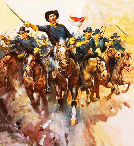Charge of the US cavalry.