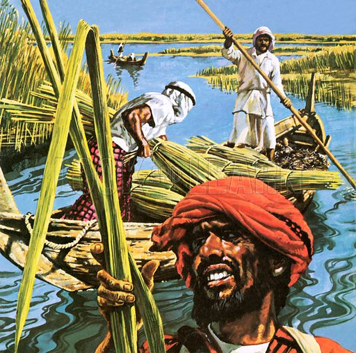 Marsh Arabs, picture, image, illustration