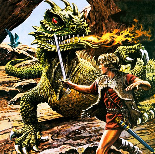 Siegfried's battle with the dragon