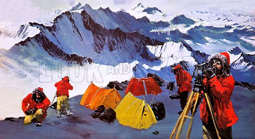Surveying Antarctica, picture, image, illustration