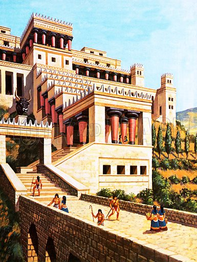picture, a recreation of the Palace of Knossos