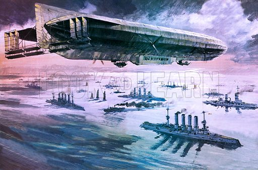 German airship, picture, image, illustration