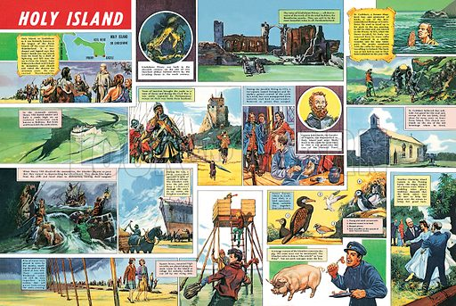 picture History of Lindisfarne, Holy Island