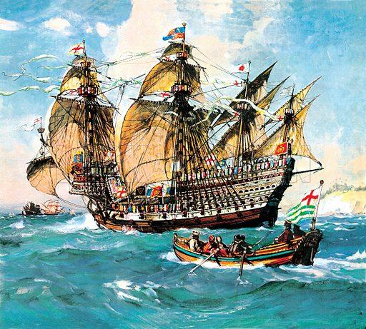 """Henry VIII's flagship """"Henri Grace a Dieu""""."""