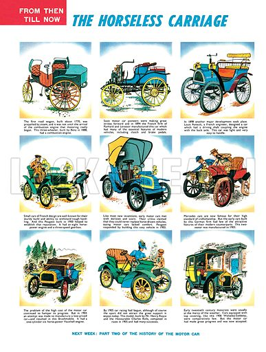 The Horseless Carriage, a history of the car.
