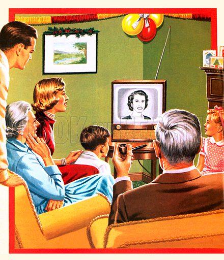 Queen Elizabeth II's first Christmas tv broadcast.