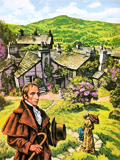 William Wordsworth at Dove Cottage.