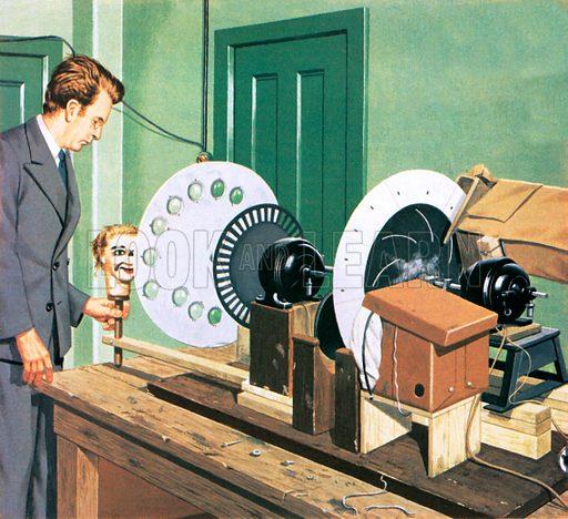 John Logie Baird, pioneer of television.