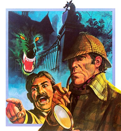 Hound of the Baskervilles, picture, image, illustration