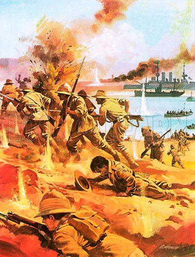picture, the Gallipoli campaign