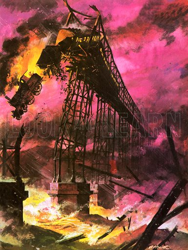 Tay Bridge disaster, picture, image, illustration