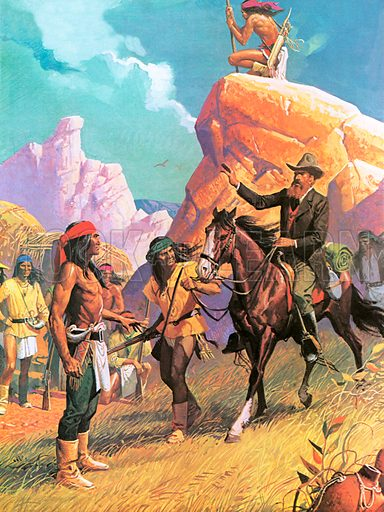 Thomas Jeffords rode bravely into Chiracahua territory, and struck a bargain with the ferocious Cochise so that his employees would be allowed safe passage with the US Mail.