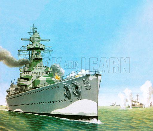 Graf Spee, picture, image, illustration
