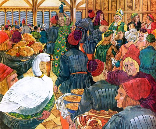Church feast and investiture, picture, image, illustration