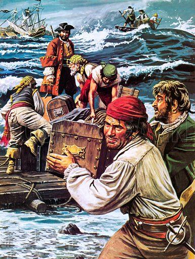 Where did William Dampier hide his gold?