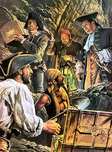 The elusive treasure hoard of 17th Century English pirate Captain Kidd. Mystery still surrounds the whereabouts of Kidd's treasure, which was said to have been buried on a rocky island in the Salvage Group, off the west coast of Africa.