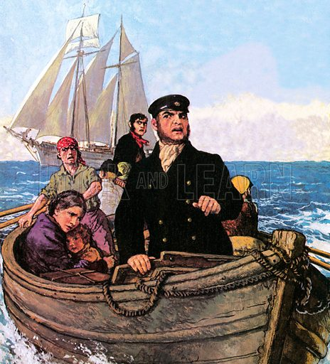 picture, Mary Celeste, Captain Briggs, lifeboat