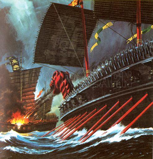Unidentified sea battle