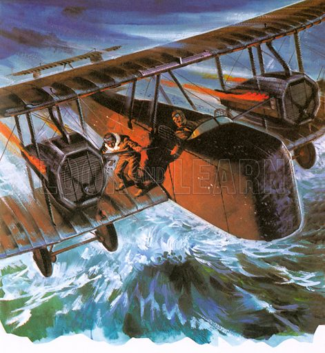 Image result for alcock and brown flight art work