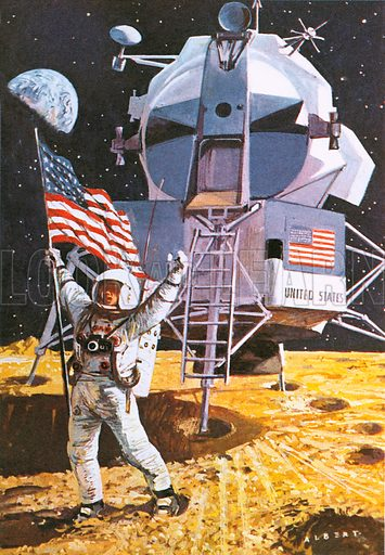 Neil Armstrong, picture, image, illustration