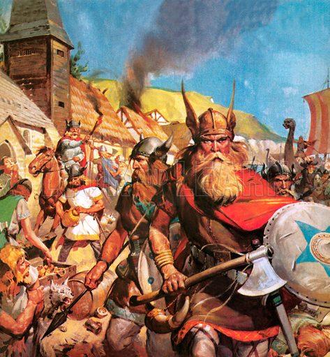 The Vikings: The Sea-Warriors. Vikings attack a British coastal town.