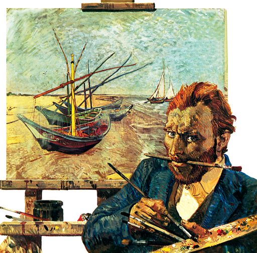 Vincent Van Gogh, picture, image, illustration