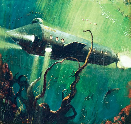 Twenty Thousand Leagues Under The Sea, picture, image, illustration