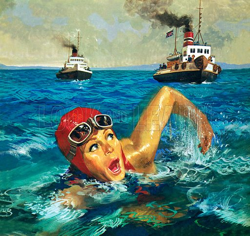 First Woman to Swim the Channel: Gertrude Ederle