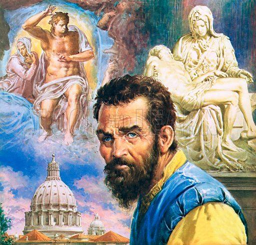 Michelangelo, picture, image, illustration