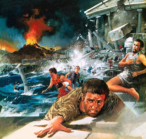 Destruction of the Lost Continent of Atlantis.
