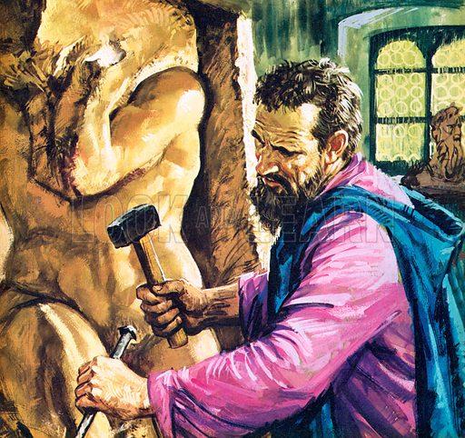 Michelangelo at work.