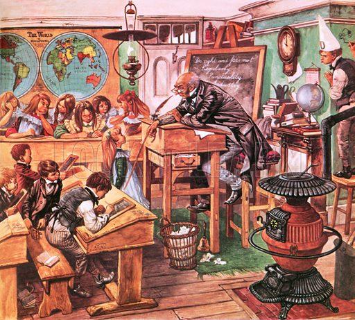 Victorian school room.