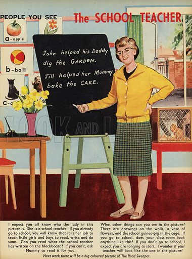 The School Teacher.  People You See, from Teddy Bear magazine, 1964.