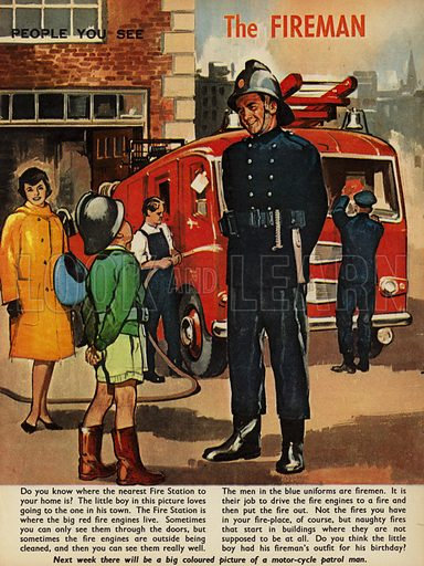The Fireman.  People You See, from Teddy Bear magazine, 1964.