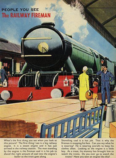 The Railway Fireman.  People You See, from Teddy Bear magazine, 1965.