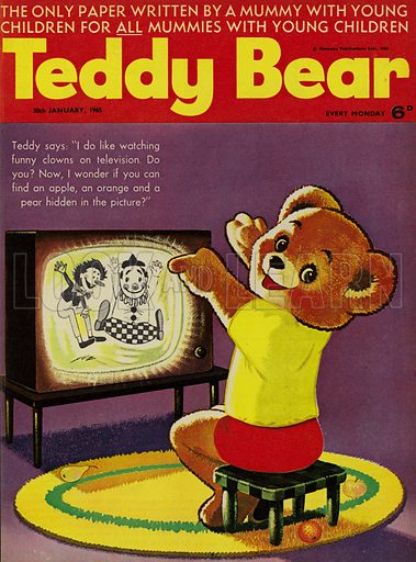 Teddy Bear, magazine cover, 1965.