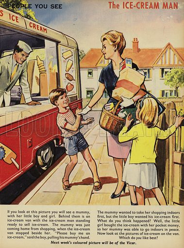 The Ice Cream Man.  People You See, from Teddy Bear magazine, 1965.