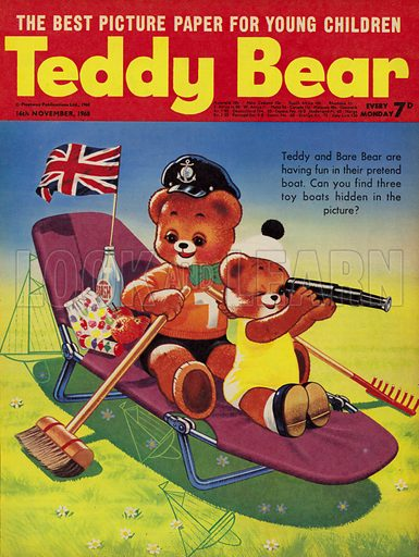 Teddy Bear, magazine cover, 1968.