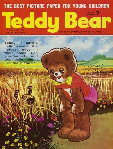 Teddy Bear, magazine cover, 1969.
