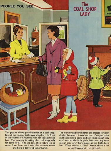 The Coal Shop Lady. People You See, from Teddy Bear magazine, 1966.