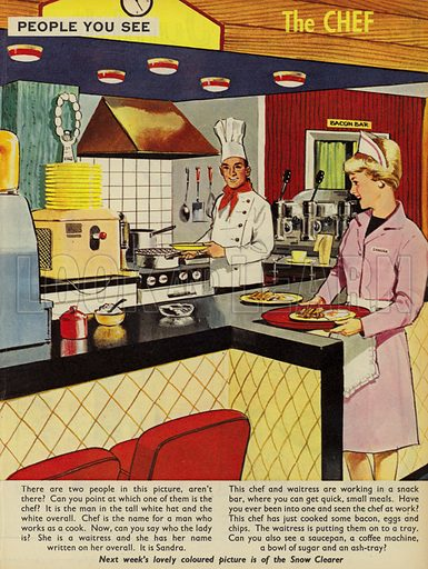 The Chef. People You See, from Teddy Bear magazine, 1966.